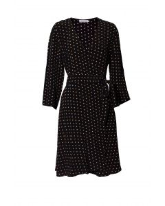 Métropole Eve Short Black Dot Dress