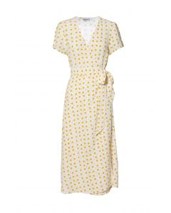 Métropole Rose Long Yellow Flower Dress