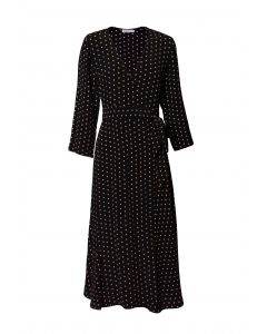 Métropole Barbara Long Black Dot Dress