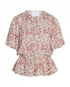 Sisters Point Ulli-SS Red Flower Top