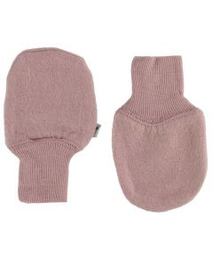 Wheat Felted Wool Mittens Pink